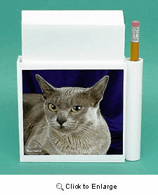 Burmese Cat Hold-a-Note
