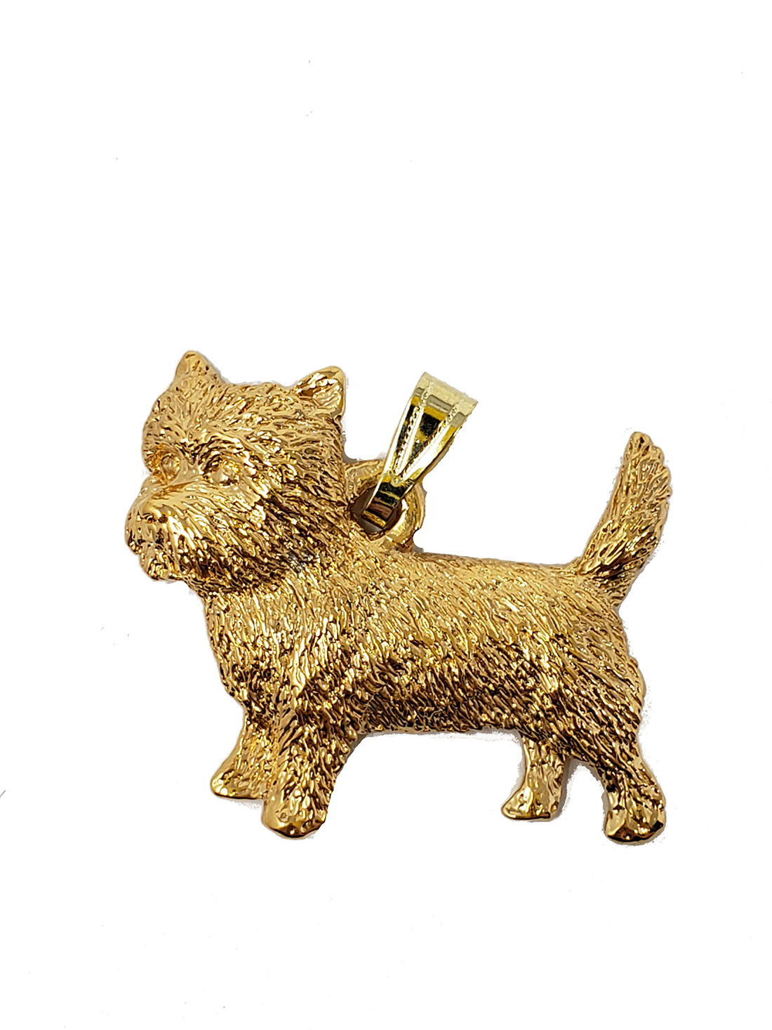 Cairn Terrier 24K Gold Plated Pendant