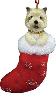 Cairn Terrier Christmas Stocking Ornament