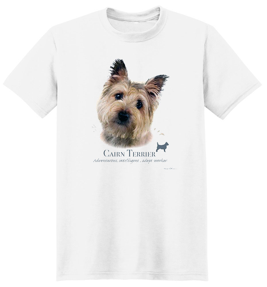 Cairn Terrier T Shirt by Howard Robinson
