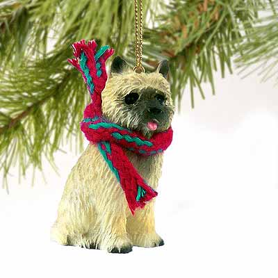Cairn Terrier Tiny One Christmas Ornament Red