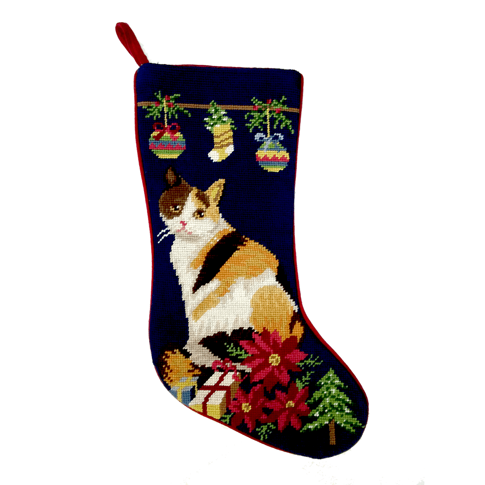 Calico Cat Christmas Stocking