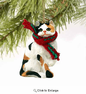 Calico Cat Tiny One Christmas Ornament Calico Shorthaired