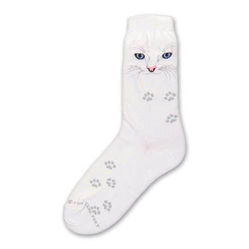 Cat Eyes White Socks
