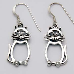 Cat Earrings Abstract