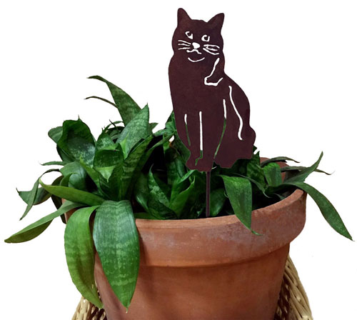 Cat Plant Stake
