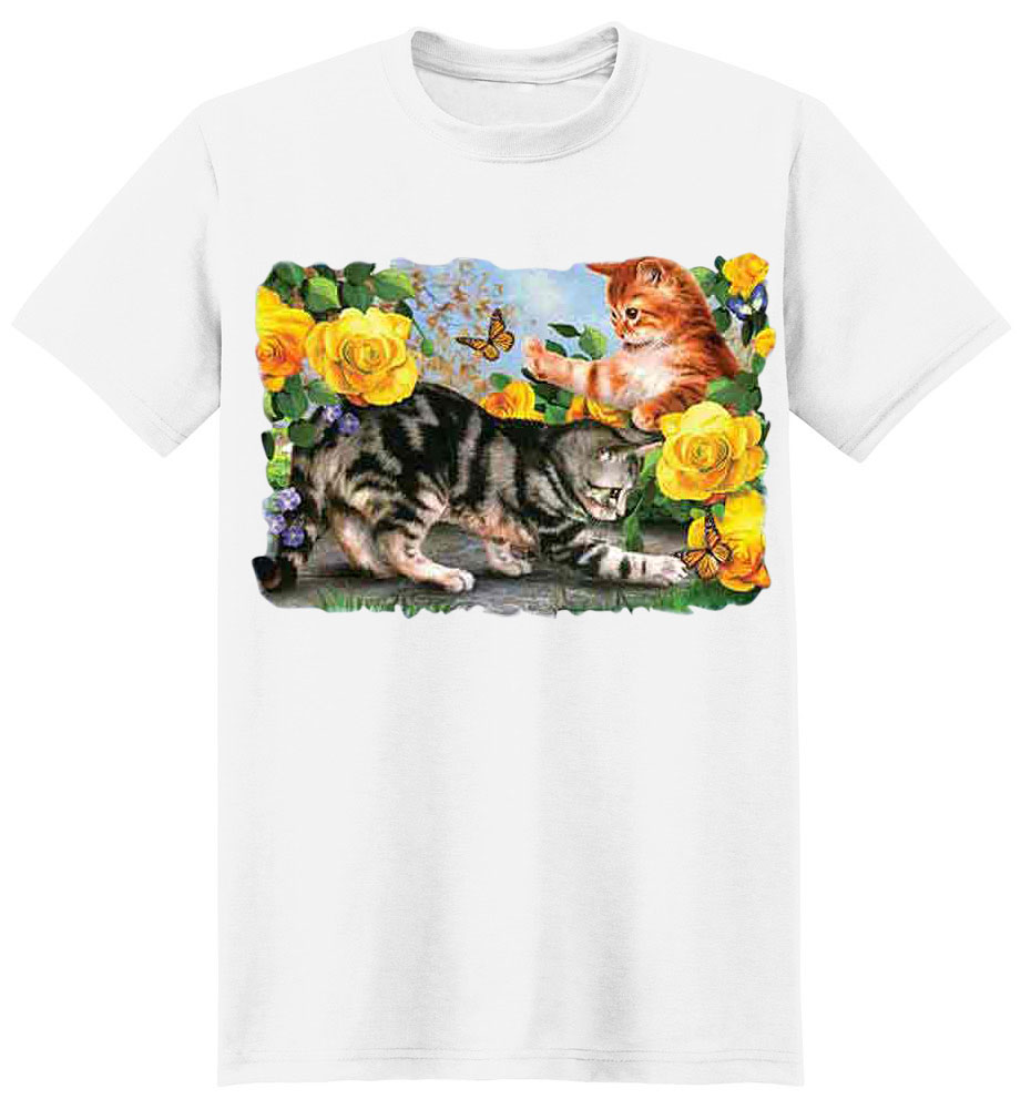 Cat T-Shirt - Playful Cats