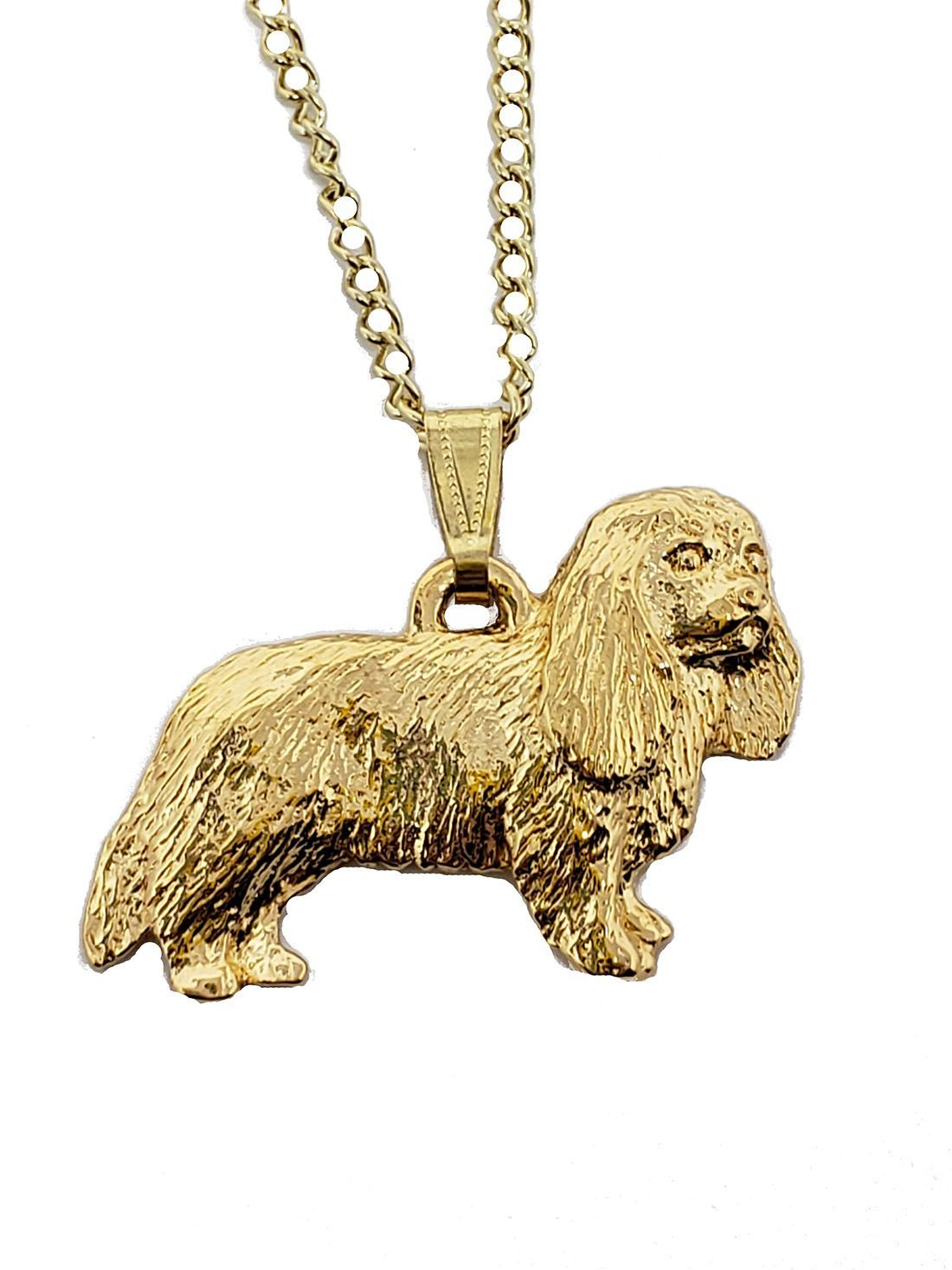Cavalier King Charles 24K Gold Plated Pendant with Necklace