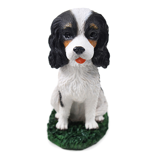 Cavalier King Charles Bobblehead Bl-Wh