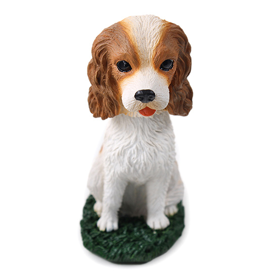 Cavalier King Charles Bobblehead Brown-White