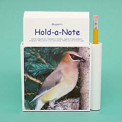 Cedar Waxwing Hold-a-Note