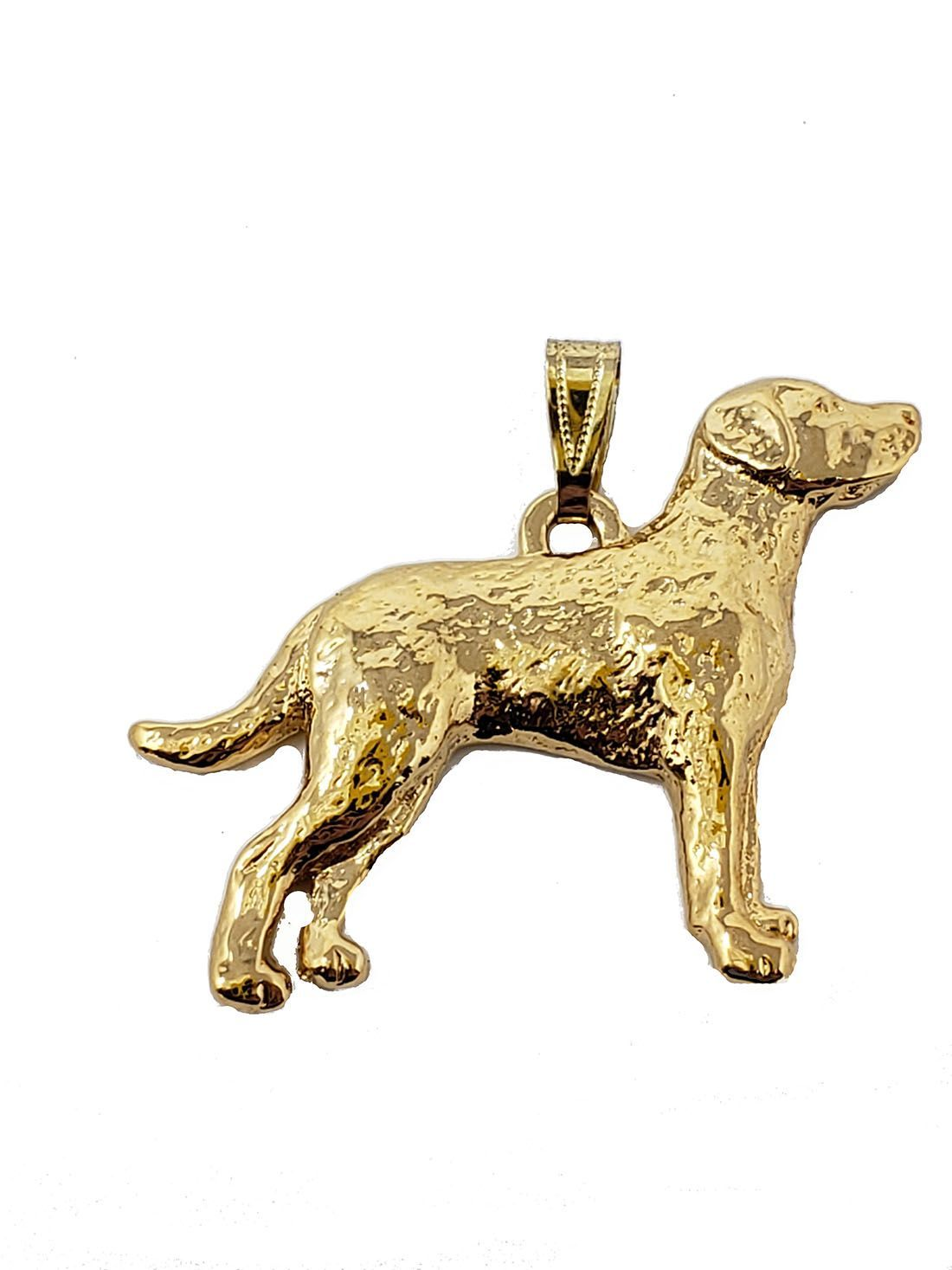 Chesapeake Bay Retriever 24K Gold Plated Pendant