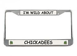 Chickadee License Plate Frame