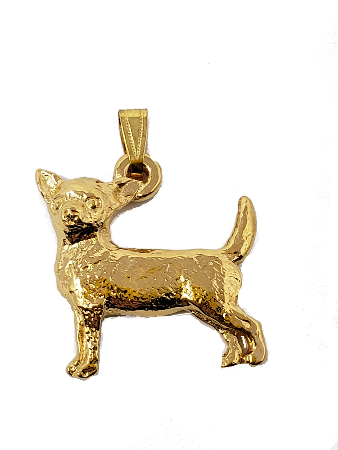 Chihuahua 24K Gold Plated Pendant