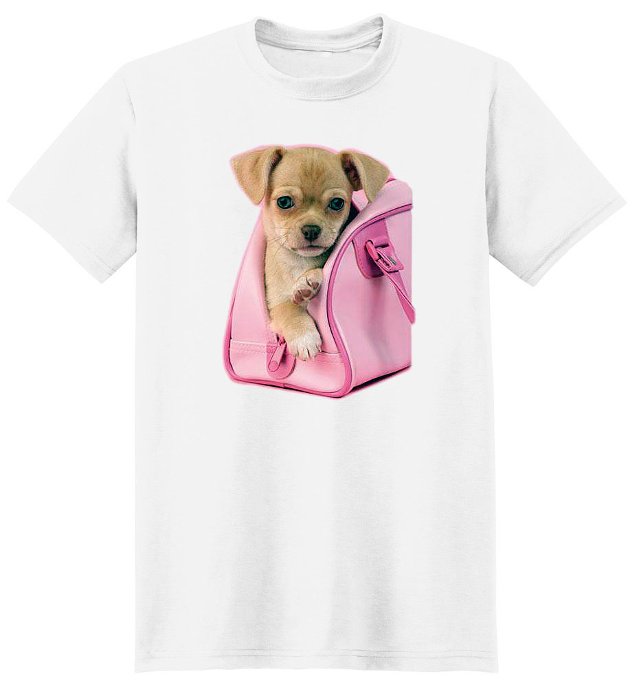 Chihuahua T Shirt Puppy In Pink