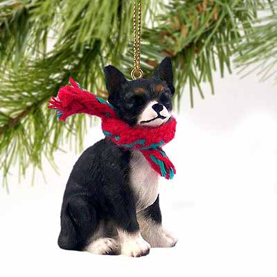 Chihuahua Tiny One Christmas Ornament Black-White