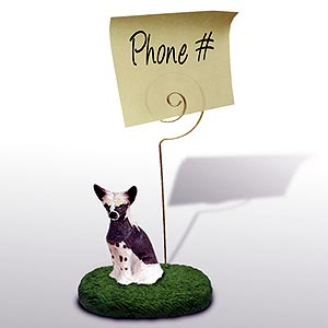 Chinese Crested Note Holder