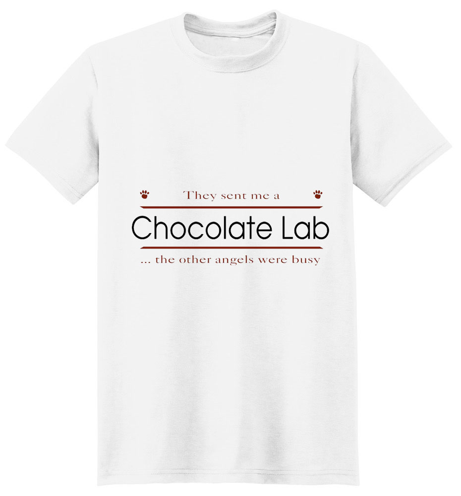 Chocolate Lab T-Shirt - Other Angels