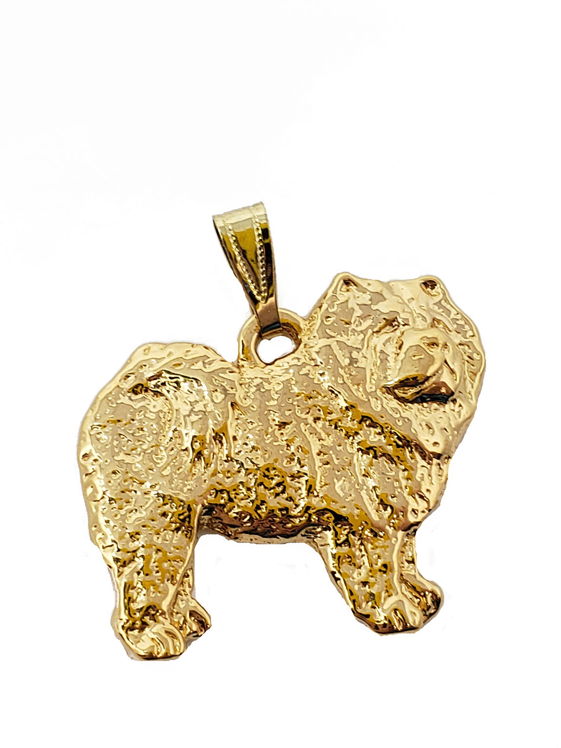 Chow Chow 24K Gold Plated Pendant