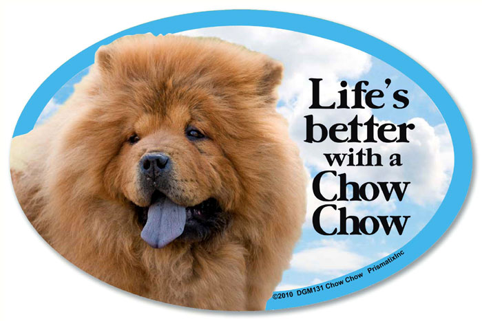 Chow Chow Car Magnet - Life's Better