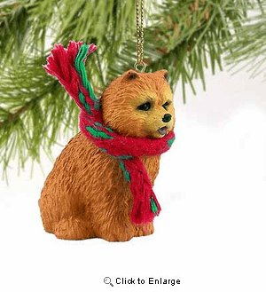 Chow Chow Tiny One Christmas Ornament Red