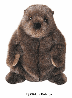 """Chuckwood""  Groundhog  12"" Plush by Douglas Toy"