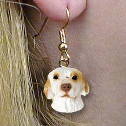 Clumber Spaniel Authentic Earrings