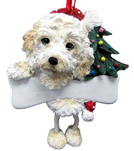 Cockapoo Christmas Tree Ornament - Personalize