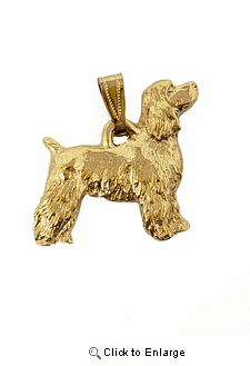 Cocker Spaniel 24K Gold Plated Pendant