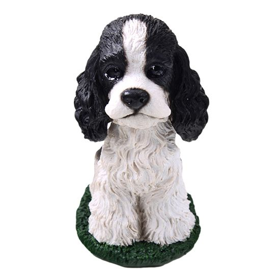 Cocker Spaniel Bobblehead Black-White