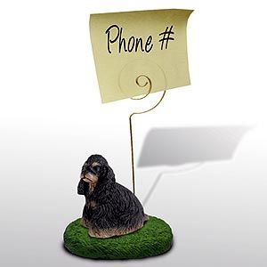 Cocker Spaniel Note Holder (Black & Tan)