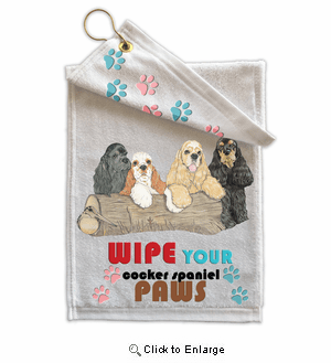 Cocker Spaniel Paw Wipe Towel