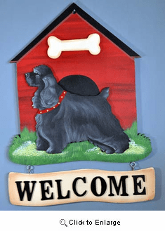 Cocker Spaniel Welcome Sign