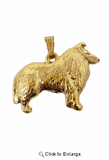 Collie 24K Gold Plated Pendant