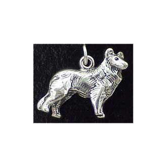 Collie Sterling Silver Charm