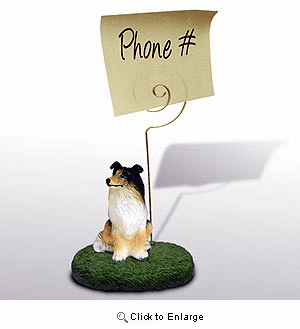 Collie Note Holder (Tricolor)