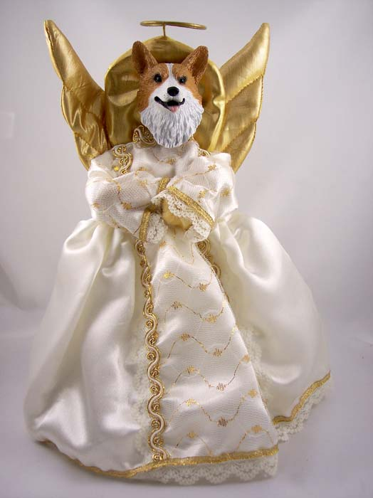 Corgi Angel Christmas Tree Topper (Pembroke)