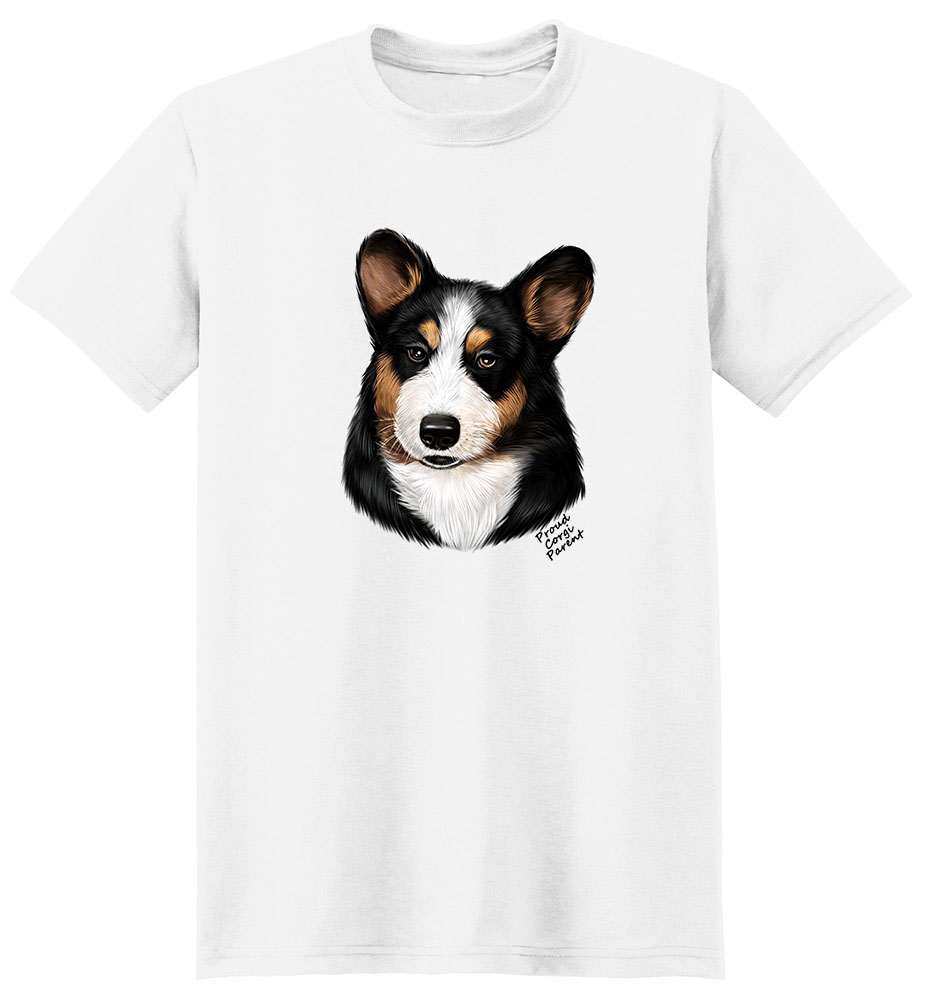 Corgi Black-Tan T Shirt - Proud Parent