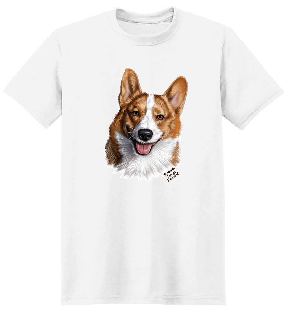 Corgi Brown & White T Shirt - Proud Parent