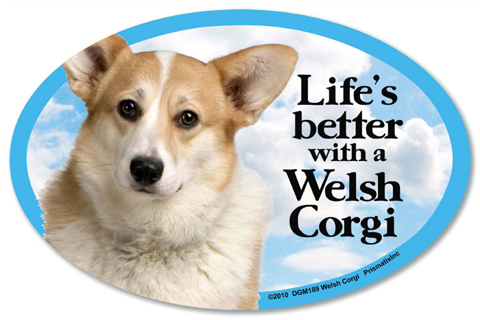 Corgi Car Magnet - Life's Better