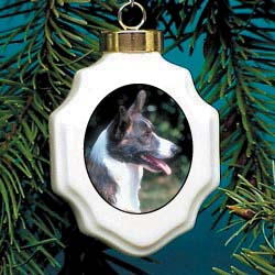 Corgi Cardigan Christmas Ornament Porcelain