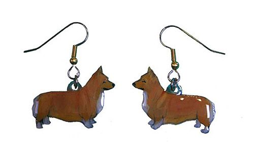 Corgi Earrings Welsh Pembroke Hand Painted Acrylic