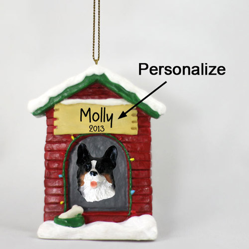 Corgi Personalized Dog House Christmas Ornament Cardigan