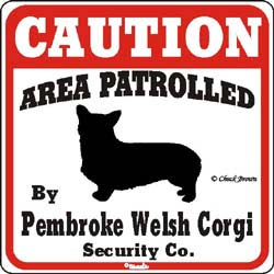 Corgi Caution Sign