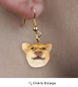 Cougar Authentic Earrings