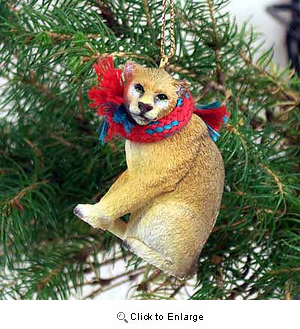 Cougar Tiny One Christmas Ornament