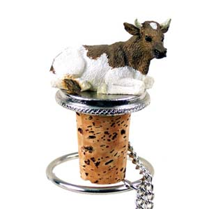 Cow Bottle Stopper (Guernsey Bull)