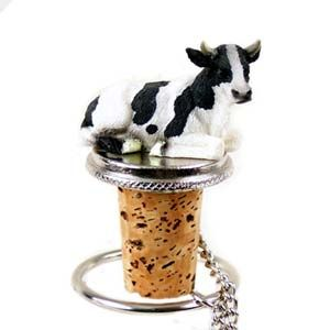 Cow Bottle Stopper (Holstein Bull)