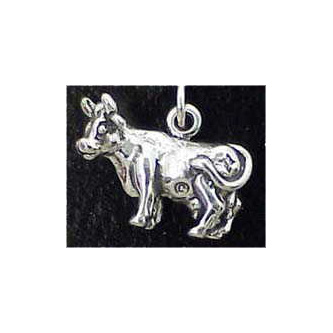 Cow Sterling Silver Charm