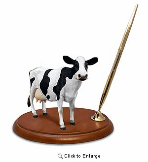 Cow Pen Holder (Holstein)